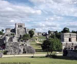Puzle Ruínas de Tulum, no México