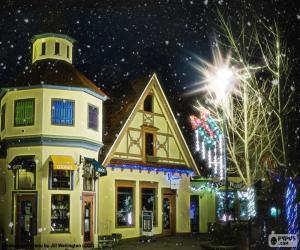 Puzle Rua com luzes de Natal