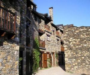 Puzle Rua típica aldeia de montanha
