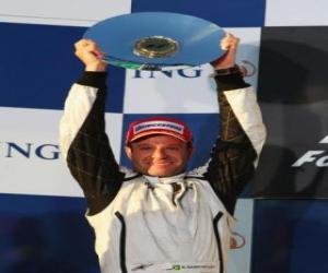 Puzle Rubens Barrichello no pódium