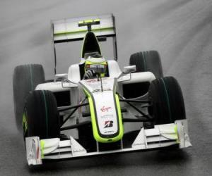 Puzle Rubens Barrichello pilota seu F1
