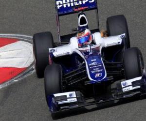 Puzle Rubens Barrichello - Williams - Xangai 2010
