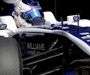 Puzle Rubens Barrichello - Williams - Barcelona 2010