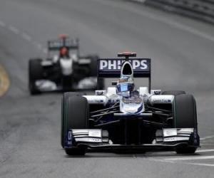 Puzle Rubens Barrichello - Williams - Monte-Carlo 2010