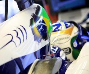 Puzle Rubens Barrichello - Williams - Spa-Francorchamps 2010