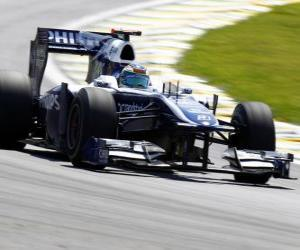 Puzle Rubens Barrichello - Williams - Interlagos 2010