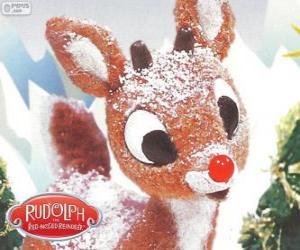 Puzle Rudolph, a rena pequena com nariz vermelho