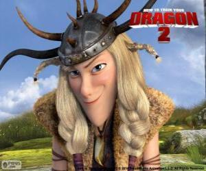 Puzle Ruffnut Thorston, Como treinar o seu dragão 2