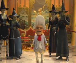 Puzle Rumpelstiltskin é o rei com uma bruxa ejérctio suas ordens