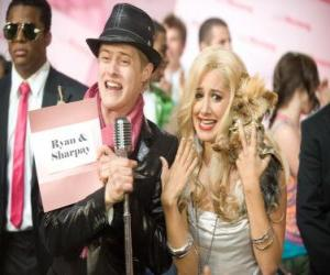 Puzle Ryan Evans (Lucas Grabeel), Sharpay Evans (Ashley Tisdale) animado