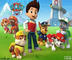 Puzle Ryder e cães Paw Patrol