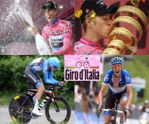 Puzle Ryder Hesjedal, campeão do Giro d'Italia 2012