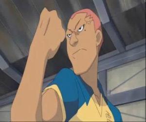 Puzle Ryugo Someoka ou Kevin Dragonfly, o atacante mal-humorado de Raimon equipa de futebol