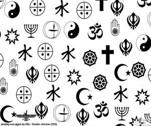 Puzle Símbolos de religiões