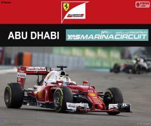 Puzle S. Vettel, GP Abu Dhabi 2016
