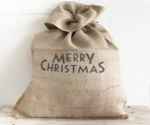 Puzle Saco com os presentes de Natal