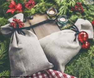Puzle Sacos de presente de Natal