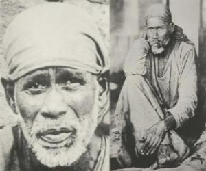 Puzle Sai Baba de Shirdi, guru indiano, yogi e faquir que é considerado pelos seus seguidores como um santo