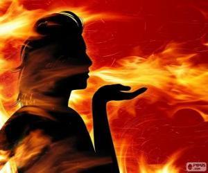 Puzle Salamandras, fada do fogo