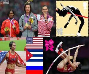 Puzle Salto com vara feminino Londres 12