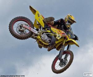 Puzle Salto de motocross