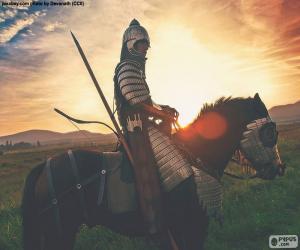Puzle Samurai a cavalo