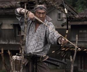 Puzle Samurai atira o seu arco