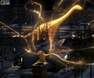 Puzle Sandman, o guardião dos sonhos, o personagem mudo do filme A Origem dos Guardiões