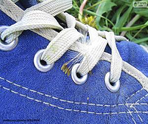 Puzle Sapato azul