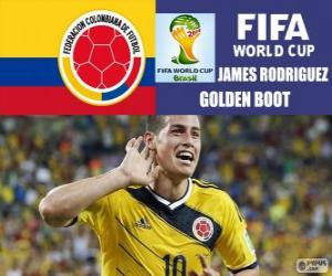 Puzle Sapato de James Rodriguez, Chuteira de Ouro. Copa do mundo de futebol Brasil 2014
