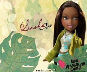 Puzle Sasha - Bunny Boo - Bratz é o primeiro African American. Seu nome do meio é Edith, é narcisismo, mas isso é normal (para ela).