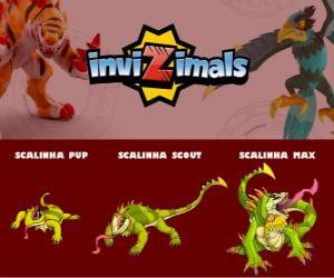 Puzle Scalinha em três fases Scalinha Pup, Scalinha Scott e Scalinha Max, Invizimals