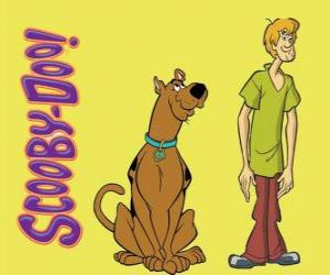 Puzle Scooby-Doo e Shaggy, dois amigos