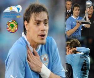 Puzle Sebastian Coates melhor revelação da Copa América 2011