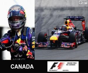 Puzle Sebastian Vettel comemora sua vitória no Grand Prix do Canadá 2013