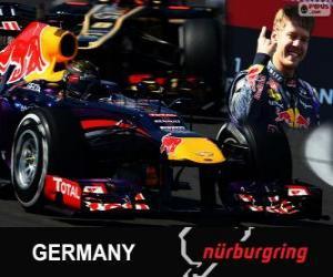 Puzle Sebastian Vettel comemora sua vitória no Grande Prêmio da Alemanha 2013