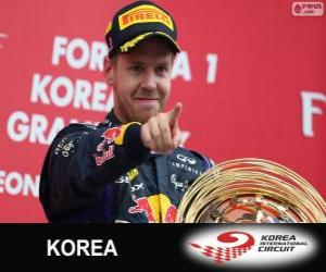 Puzle Sebastian Vettel comemora sua vitória no Grande Prémio da Coreia 2013