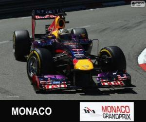 Puzle Sebastian Vettel - Red Bull - Grand Prix de Monaco 2013, 2º classificado