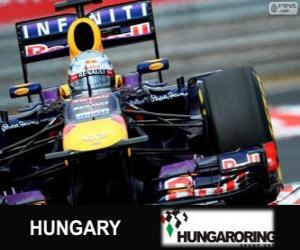 Puzle Sebastian Vettel - Red Bull - Grande Prêmio da Hungria 2013, 3º classificado