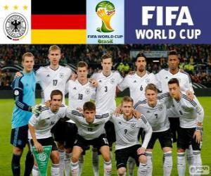 Puzle Seleção da Alemanha, Grupo G, Brasil 2014