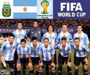 Puzle Seleção da Argentina, Grupo F, Brasil 2014