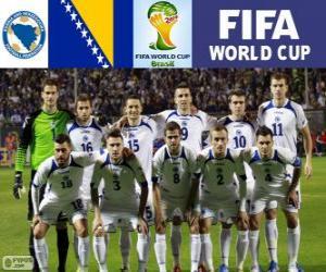 Puzle Seleção da Bósnia e Herzegovina, Grupo F, Brasil 2014