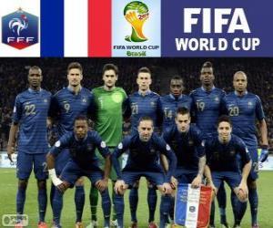 Puzle Seleção da França, Grupo E, Brasil 2014