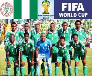 Puzle Seleção da Nigéria, Grupo F, Brasil 2014