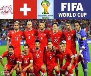 Puzle Seleção da Suíça, Grupo E, Brasil 2014