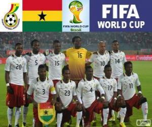 Puzle Seleção de Gana, Grupo G, Brasil 2014
