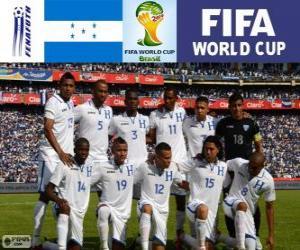 Puzle Seleção de Honduras, Grupo E, Brasil 2014