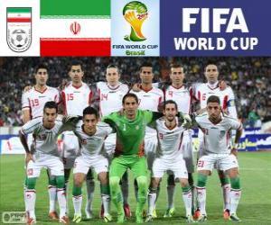 Puzle Seleção do Irã, Grupo F, Brasil 2014