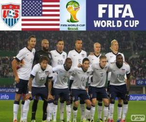 Puzle Seleção dos Estados Unidos, Grupo G, Brasil 2014