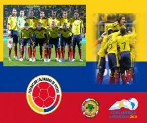 Puzle Seleção da Colômbia, Grupo A, Argentina 2011